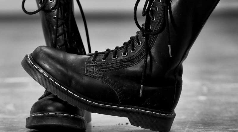 A pair of Dr Martens Boots, which generally run true to size or large