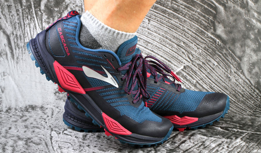 View of a Brooks shoes wearing by a woman