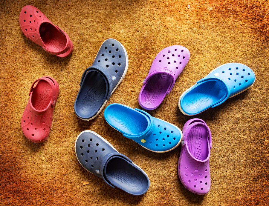View of Crocs footwear for every member of the family