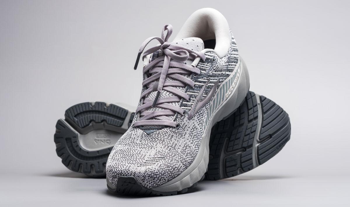 A gray Brooks shoes
